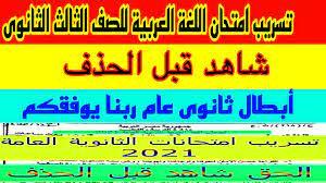 توقعات امتحان اللغة العربية للصف الثالث الثانوى ليلة الامتحان تسريب  إمتحانات الثانوية العامة 2021 - YouTube