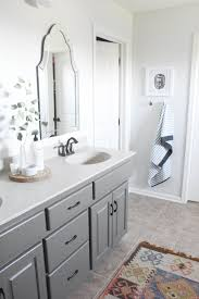 Sherwin Williams Silver Paint Master Bathroom Oak Cabinets Painted Sherwin Williams Porpoise