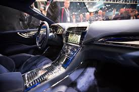 2018 lincoln continental interior. contemporary interior a glimpse inside the lincoln continental concept on floor of 2015  new york auto show in 2018 lincoln continental interior