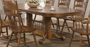 pedestal dining table french oak la