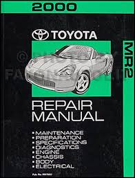 2000 toyota mr2 wiring diagram manual original 2000 toyota mr2 repair shop manual original 189 00