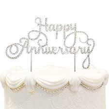 Amazoncom Happy Anniversary Cake Topper Wedding Anniversary