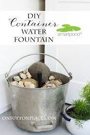 this diy container water fountain is so easy and fast add the sound of a