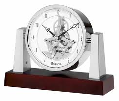 detailed image of the bulova b7520 largo desktop clock