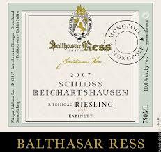 2018 Balthasar Ress Schloss Reichartshausen Riesling Kabinett Rheingau Germany