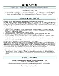 Cover Letter Controller Resume Samples Professional Controller