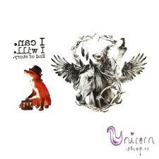 Nalepovací Tetování Liška Kůň A Vlk