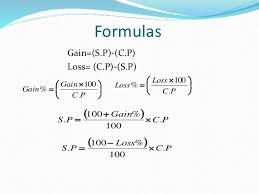 Profit Loss Formula Profit And Loss Formulas