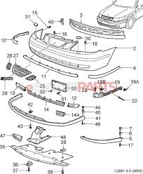 4561007 saab spoiler genuine saab parts from esaabparts rh esaabparts saab 9000 parts diagram