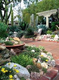 view from the gate into the succulent garden at sherman library gardens author s photographs