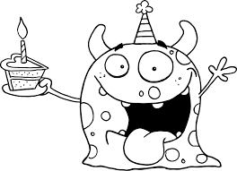 Small Picture happy birthday coloring pages for kids 05 bday Pinterest