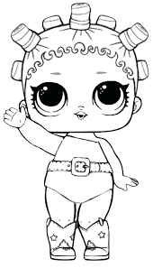 Lol Doll Coloring Pages Dawn