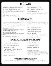 Restaurant Menu Template Microsoft Word 2018 Printables And Menu