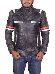 cafe racer men s vintage distressed leather motorcycle jacket samishleather