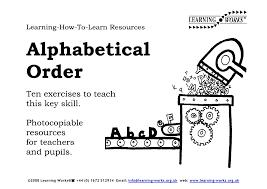 Alphabetical Order Alphabetical Order Book