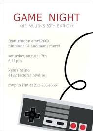 Game Night Invitation Template Video Game Party Invitation Ideas Best Video Game Birthday Party