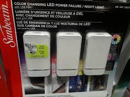 Sunbeam Night Light Power Failure 3 Pack Sunbeam Color Changing Led Power Failure Night Light With Usb