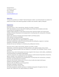 Health Education Resume Resume For Your Job Application