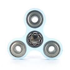 steel bearings fidget spinner. acrylic fidget spinner \u2013 78mm x 5mm fluorescent blue steel bearings