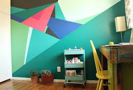 geometric wall paintPaint this Geometric Wall Design  Pearmama