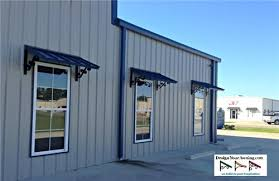 metal building windows. Classic Awnings. Metal Awnings Over Warehouse Windows Building G