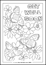 The most common get well cards material is paper. Get Well Soon Colouring Pages Www Free For Kids Com