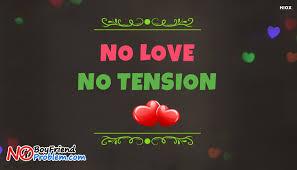 No Love Quotes Stunning No Love No Tension Desktop Wallpaper NoboyfriendnoproblemCom