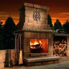 pre made outdoor fireplace outdoor fireplace kits