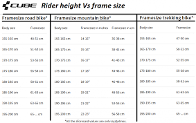 Cannondale Mountain Bike Frame Size Chart 60 Genuine Mountain Frame Size Chart