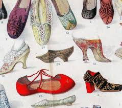 Foot History Chart Shoes Throughout History Fabulous Foot Fashion Chart Lithograph 1912