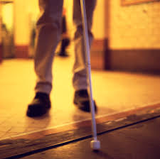 Image result for blind man walking