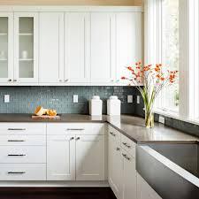 concrete farmhouse sink shaker cabinets