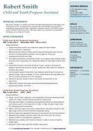 Free Resume Programs Child And Youth Program Assistant Resume Samples Qwikresume