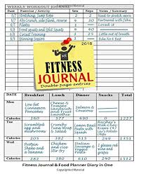 Fitness Journal 2018 Fitness Journal And Food Planner Diary
