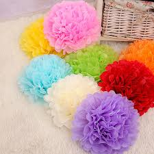 Buy Paper Flower Us 1 32 28 Off 10pcs 4inch 10cm Handmade Tissue Paper Pom Poms Paper Flower Ball Pompom Home Garden Wedding Birthday Party Decoration Supplies In
