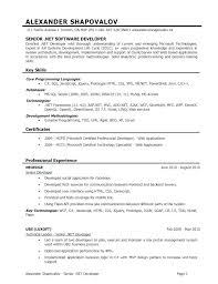 Net Developer Resume Mkma Classy Net Developer Resume