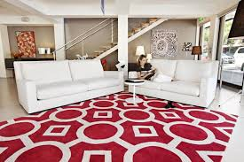used contemporary red rugs