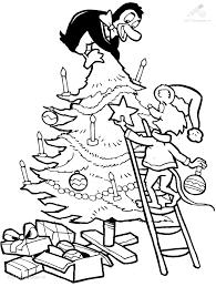 Kleurplaat Kerstboom Versieren Cjpg