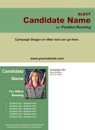Political Brochure Templates – Green And Tan Theme | Online Candidate