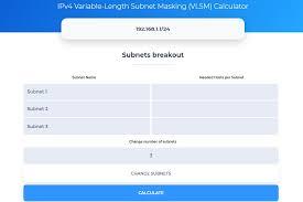 Ipv4 Variable Length Subnet Masking Vlsm Calculator Online