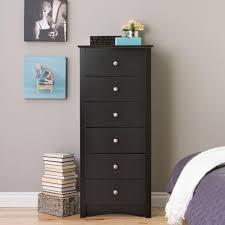 Tall Dresser Drawers Bedroom Furniture Prepac Sonoma 6 Drawer Black Chest Bdc 2354 K The Home Depot