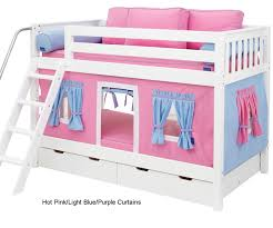 Bunk Bed Curtains Pink Light Blue & Purple