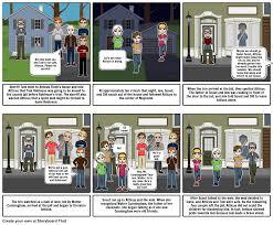 to kill a mockingbird chapter summary storyboard