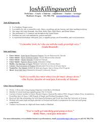 Musician Resume Resume And Cover Letter Resume And Cover Letter