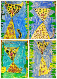 Kindergarten Art Lesson Plans K Triangle Leopards Kindergarden Art Kindergarten Art
