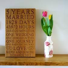 5th wedding anniversary plaques