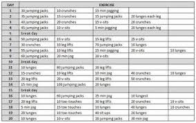 jessalynne 20 day workout plan