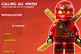 Free Printable Lego Ninjago Birthday Invitation Lego Ninjago