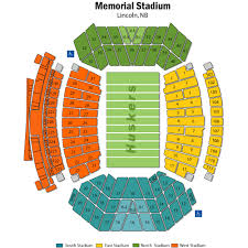 Seating Chart For Memorial Stadium Lincoln Nebraska Nebraska Memorial Stadium Tickets Nebraska Memorial