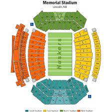 Nebraska Football Field Seating Chart Nebraska Memorial Stadium Tickets Nebraska Memorial